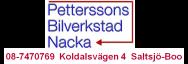Petterssons Bilverkstad Nacka, 08-7470769, Koldalsvägen 4 Saltsjö-Boo